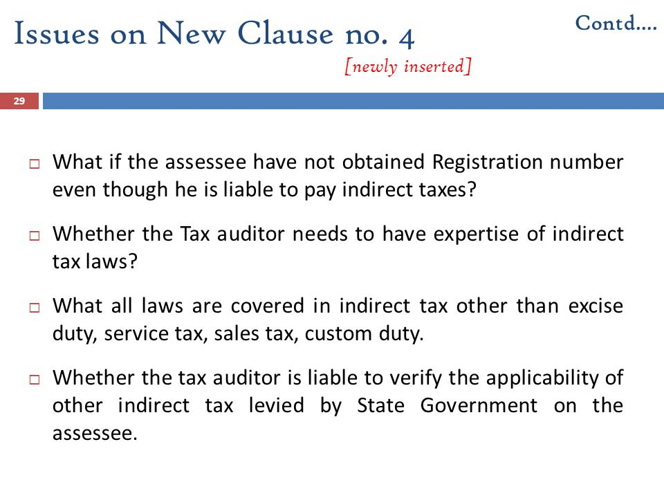 Issues on New Clause no. 4 [newly inserted]